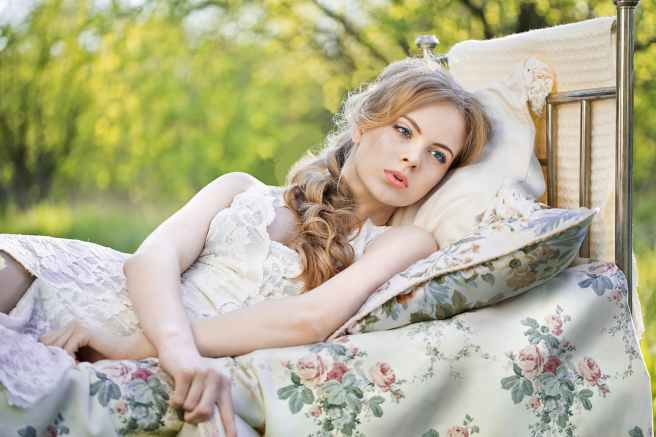 adolescence adult beautiful bed